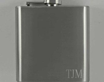 personalized flask, hip flask, monogramed flask, stainless steel flask, metal flask, custom engraved flask, pocket flask
