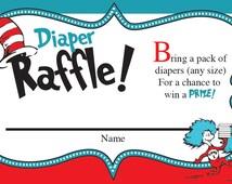 Instant Download - Dr. Seuss Diaper Raffle Cards