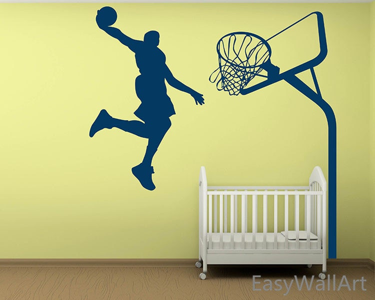 Basketball wall decal basketball decal sports wall for Basketball wall decals