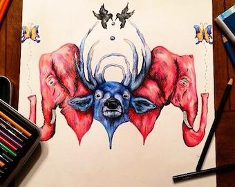 Bassnectar Animal Art