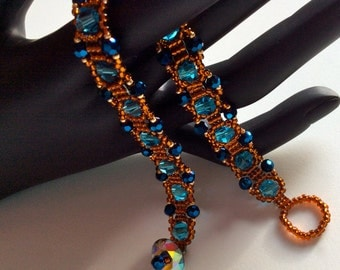 Course for brilliant shine! With his flamboyant blue stone and its orange rock this bracelet will be you envoutez. Button swarovski