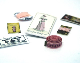 Pink Victorian Era Sewing Set