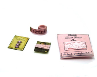 Pink Lace Packet Set Dolls House Miniature