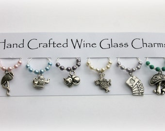 Alice In Wonderland Wine Glass Charms Gift Idea Gifts For Her