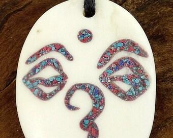 NECKLACE Tibetan Buddhist Buddha meditation wn3.6 eyes