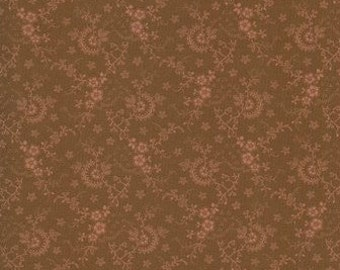 Thimbleberries - 3's Company Brown Floral Lattice Fabric