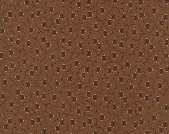 Thimbleberries - Village Green Brown Abstract Fabric