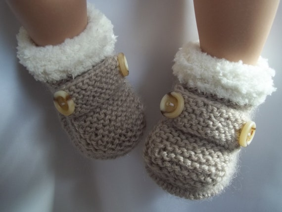 Girls Knitted Hat Pattern : Knitting Pattern instant download for baby ugg by cannyknitter