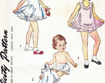Simplicity 1806 -  1930's or 60's Sewing Pattern -  Size 5 Girls Slip and Panties