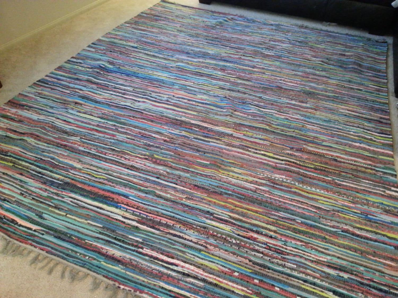 8x10 Rag Rug Chindi Cotton Rugs Scandinavian By