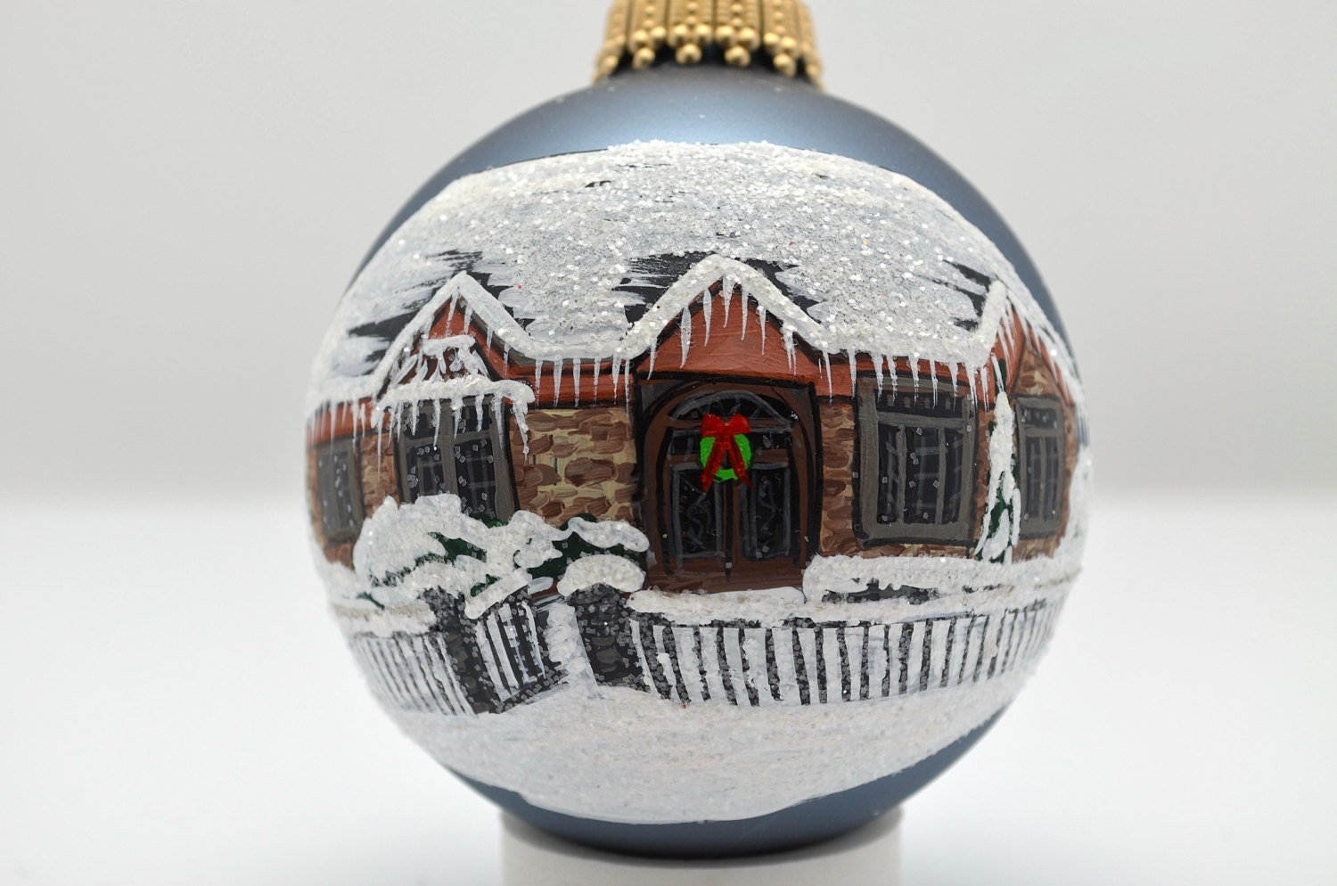 Custom Hand Painted House Christmas Ornament