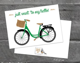 Just Want To Say Hello - Greeting Card - 5x7 - Hello Greeting Card White Card Stock - Friendship Greeting Card - Hello Greeting Card - Cards
