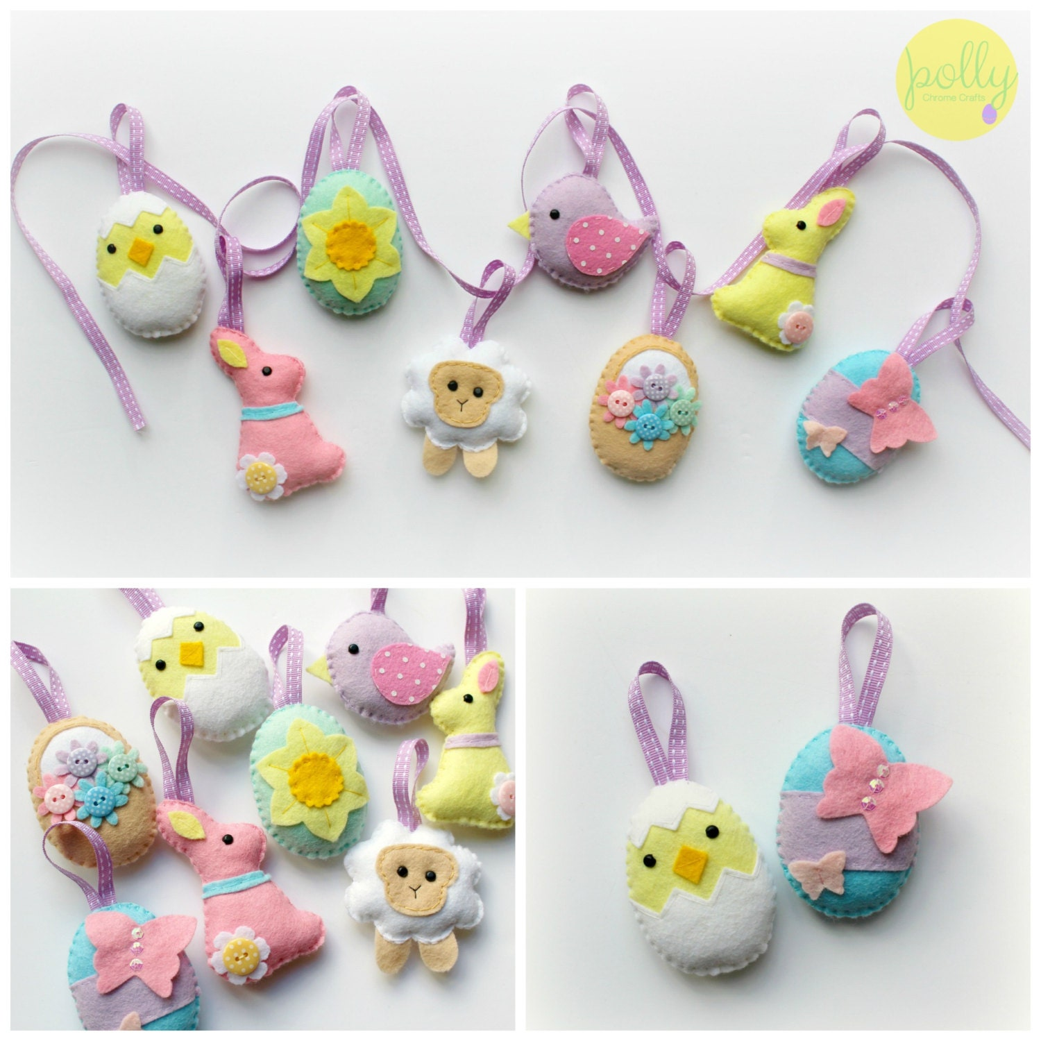 make your own felt easter collection kit easter decorations