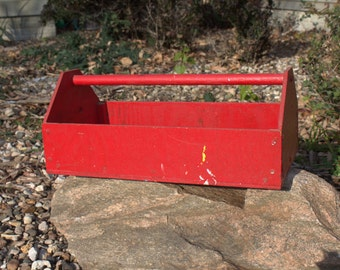 Red Wooden Toolbox