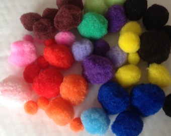 Pack of 50 Assorted Colours and Sizes