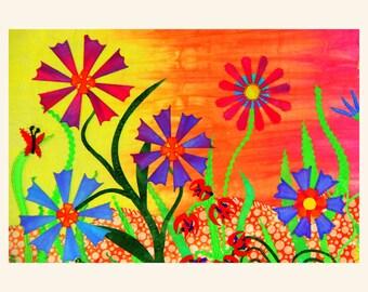 Q14 Flower Garden Quilt