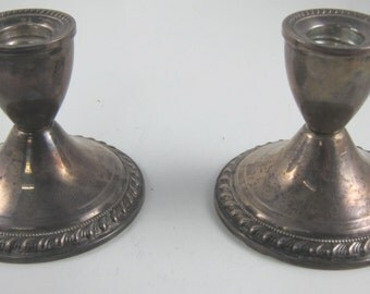 Duchin Creations Sterling Silver Weighted Candle Stick Holders
