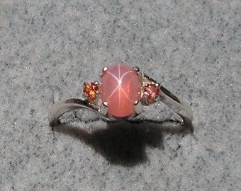 Popular Items For Pink Star Sapphire On Etsy
