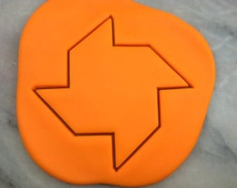 Pinwheel Cookie Cutter - SHARP EDGES - FAST Shipping - Choose Your Own Size!