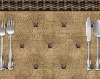 Tufted Burlap Paper Placemats