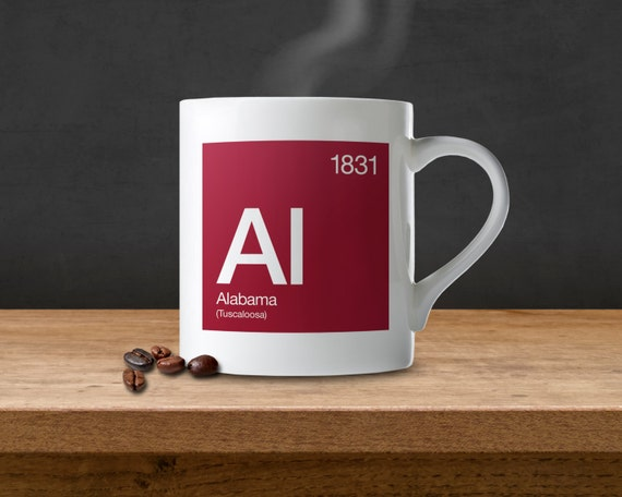Alabama Periodic Table Coffee Mug