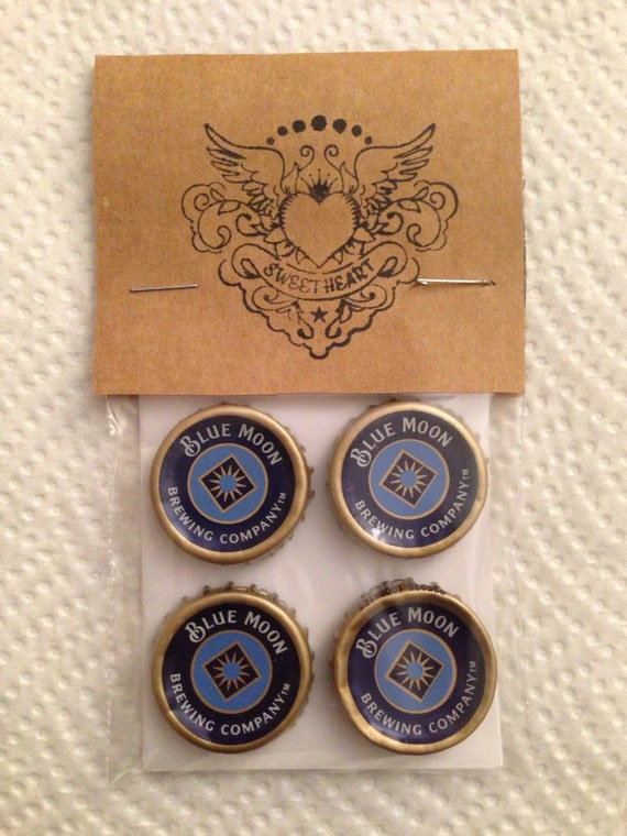Beer bottle cap magnets blue moon beer bottle caps - Beer bottle caps recyclable ...