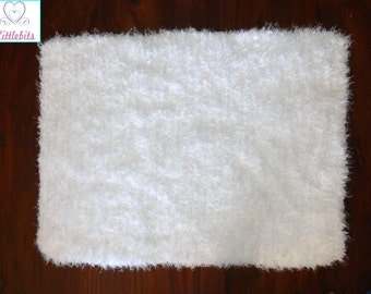 Newborn Baby Knitted Silky, Soft n Fluffy White Layering Blanket 45x65cm