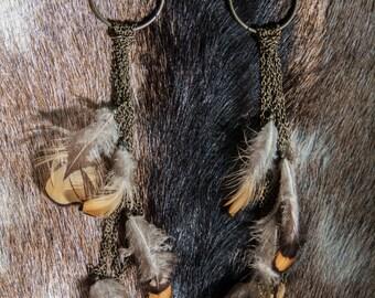 Feather & Chain Earrings