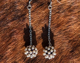 Ball On A Chain Earrings.