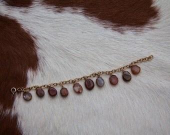 Dangling Agate Bracelet