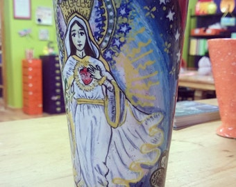 Our Lady of the Americas Hand Painted Mug