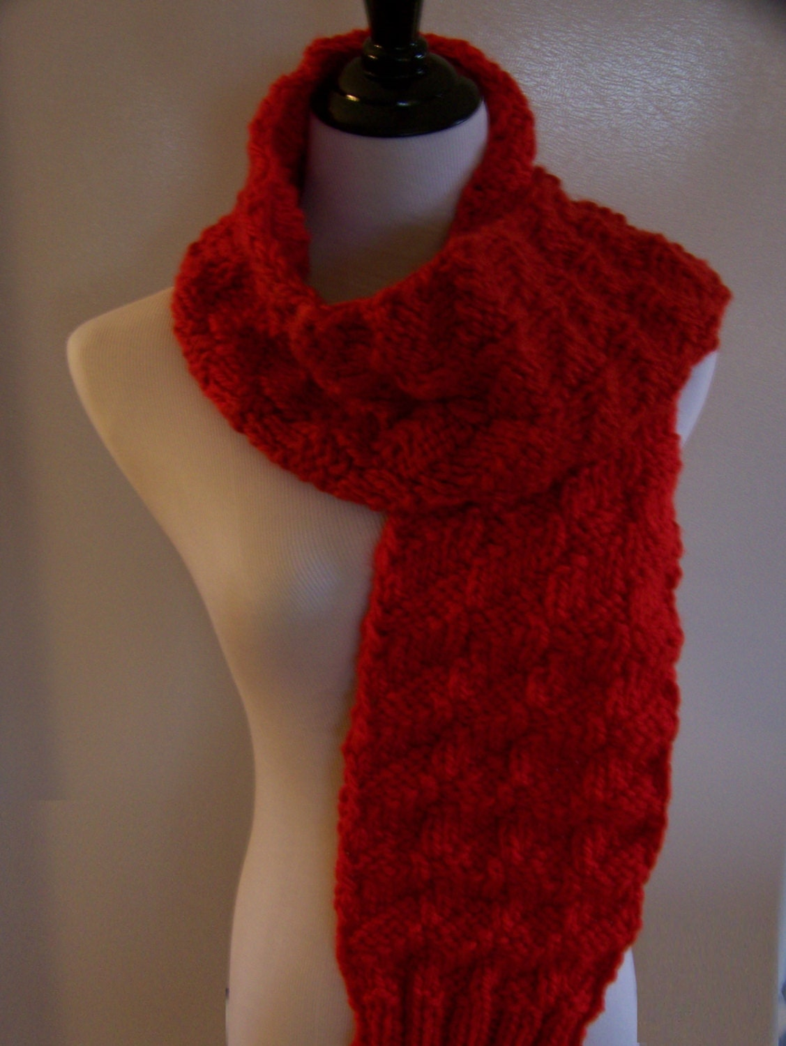 knit scarf thick and chunky scarf wool scarf