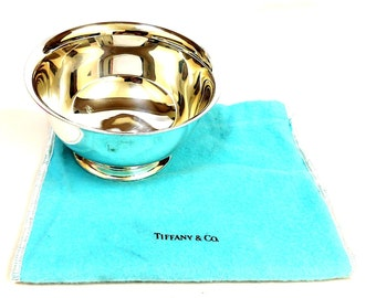 Tiffany & Co All Sterling Silver 115 mm Diameter Gorgeous Bowl
