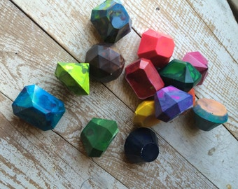 Gemstone crayons - UPCYCLED Crayons - super chunky over 1.5 oz each - perfect for tiny hands - non toxic
