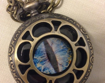 Dragons Eye Pocket Watch Locket Pendant
