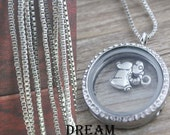 Necklace Chain for Floating Locket Charms, Necklace Chain Living Locket Charms, Necklace Chain Memory Locket Charms, Charm Holder Chain