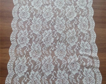 "Ivory  Lace Table runner 12"" wedding table runner  white table runners wedding  table runners  R112431"