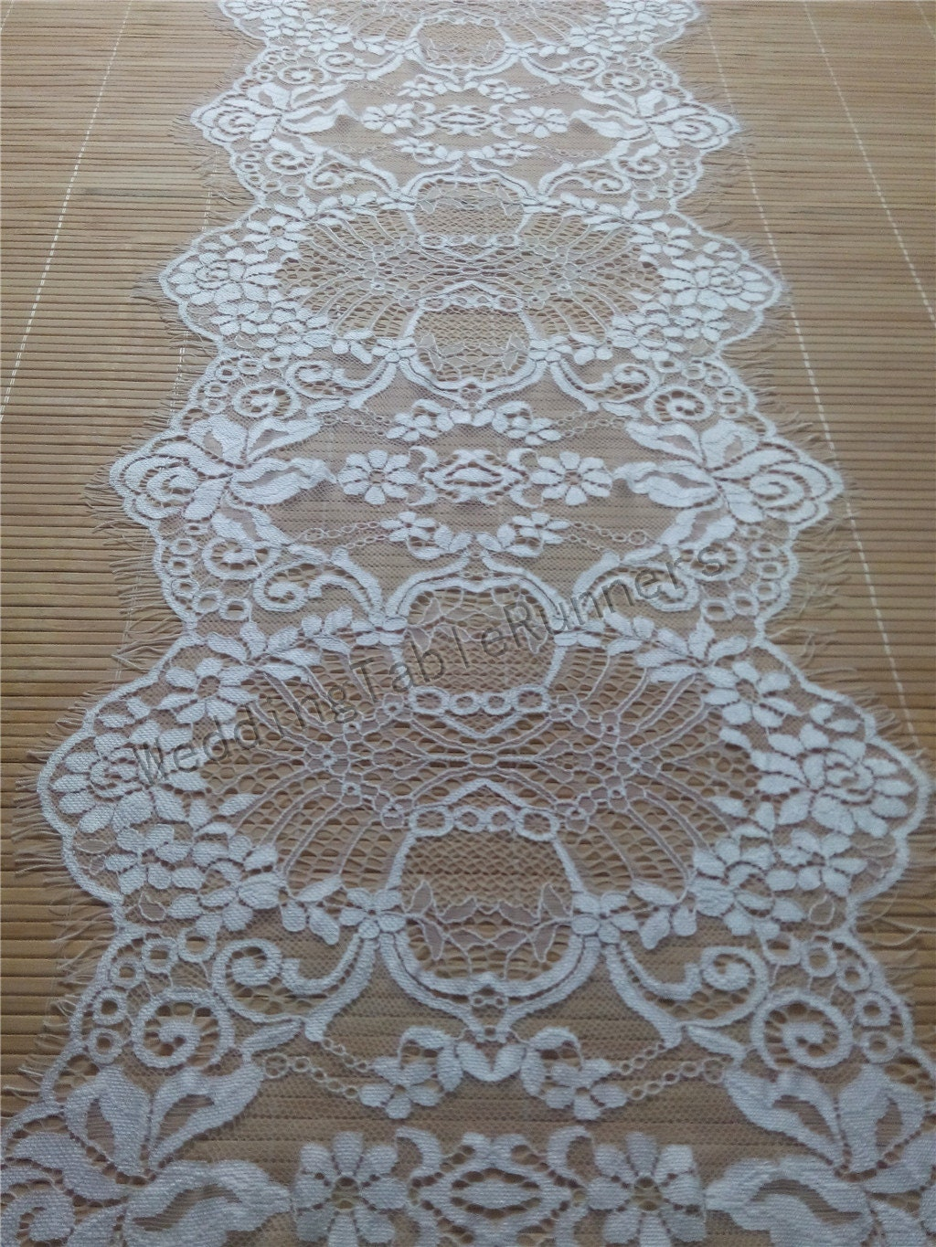 20ft Ivory Lace Table Runner 11 Wedding Runners Wedding