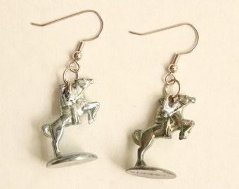 Monopoly Horse Rider Token Earrings