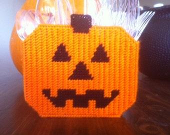 Halloween Pumpkin Silverware Holder Plastic Canvas Pattern