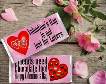 Friends Valentine Candy Bar Wrapper Printable