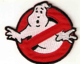 Ghostbusters Embroidered Iron On / Sew On Patch Applique ~ from ghost catching film ~ comedy film Ghostbusters Logo ~ Ghost Busters