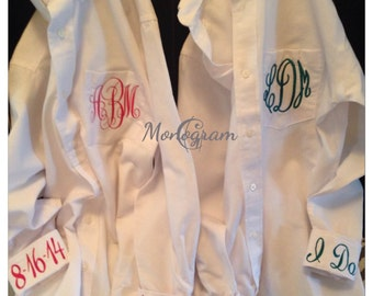 Monogrammed Shirt/ Monogrammed Oxford/ Monogrammed Button Up