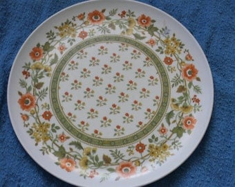 Flowers, Melamine Dinnerware Plate, Colorful