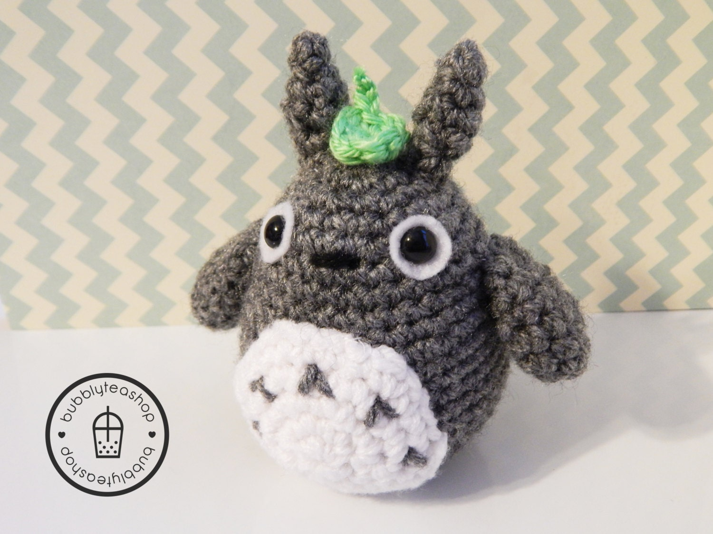 Totoro Plush Mini Totoro-Amigurumi by BubblyTeaShop on Etsy
