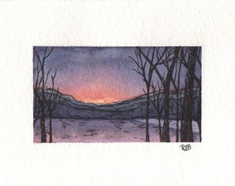 "The Seasons Collection: ""Winter Sunset""."