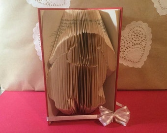 Book folding pattern for a Lop eared Bunny Rabbit ~ +FREE TUTORIAL