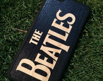 The Beatles no.2 Engraved On Black Color Dipped Wooden Case
