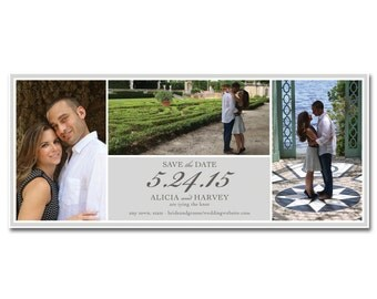 Wedding Save-the-Date - 4x9.25 - Panoramic Tri-Photo - Printable and Personalized