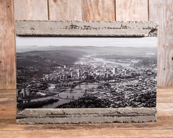 """Concrete and Rebar Photo Frame for 8""""x16"""" Prints"""